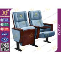 Quality Plain Split Type Back Rest Auditorium Chair With Sewing Logos / Movie Theater Seats wholesale