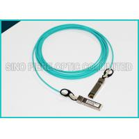 Quality 3.0mm 5 Meters Fiber Optic Multimode OM3 10G SFP+ Active Optical Aqua Cable wholesale