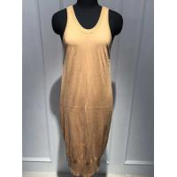 China Round neck Long Vest Dress , Computer Knitted Cotton Wrap Dresses Soft Hand Feel on sale