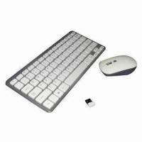 China 2.4G Wireless Mini Keyboard and Mouse Combo, Nano Receiver, Up to 10m Operating Distance on sale