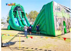 China Extreme Bouncy Zip Line Height 10m EN71 Inflatable Sport Games on sale