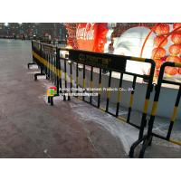 Quality Customized Steel Pipe Fence / Railing , Roads Galvanized Steel Fence wholesale