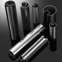 high quality 304 316 stainless steel round slotted tube and SS pipe for glass railing