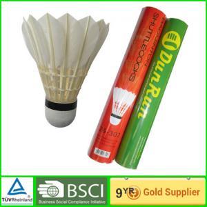 Quality DunRun adult goose Badminton goose feather shuttlecock Cork base wholesale