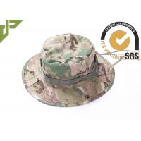 Quality Army Camouflage Multicam Tactical Boonie Hat For Camping With Stability Strap wholesale
