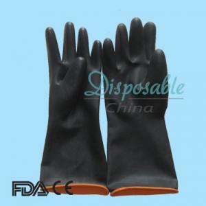 China 50g household latex gloves/household rubber gloves/latex household cleaning gloves on sale