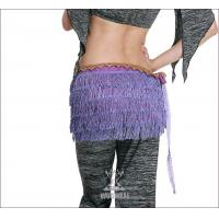 China Purple Costume Belly Dancing Hip Scarves with 5 Layers Tassel for Adult / Children on sale
