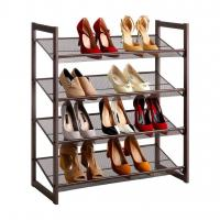 Quality H264 4-Tier Shoe Storage Organizer Easy Assembly With Metal Copper Coating wholesale