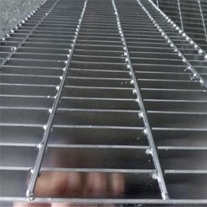 32x5mm Platform Checker Plate Serrated Galvanized Steel Grating Door Mat