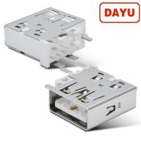 China SMT 90 Angle Mini USB Connector , Usb 2.0 Female Connector Solder Type on sale