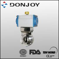 China Sanitary Butterfly Valve with Aluminium Pneumatic Actuator on sale