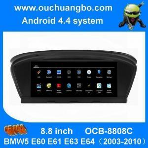 Quality Ouchuangbo car dvd gps nav stereo android 4.4 BMW5 E60 E61 E63 E64(2003-2010 support HD video bluetooth music wholesale