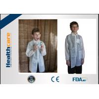 Buy cheap Long Sleeve Light Weight Disposable Lab Gowns / Disposable Visitor Coats For Children from wholesalers