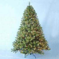 China Artificial Noble Fir Prelit Christmas Tree with Metal Stand on sale