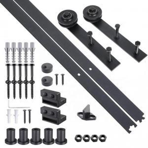 China Carbon steel black sliding track ningbo furniture barn door sliding system wardrobe sliding door fitting on sale
