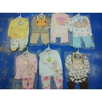 Buy cheap hot sale good quality cotton baby clothes stock discount 3 piece sets spring 12M from wholesalers