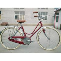 Quality Cheap manufacturer price colorful hi-ten steel  26/28 size elegant retro lady bike with bag  for sale made in China wholesale