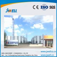 Quality Jwell shock absorption sound insulation pvc semi-skinning foam board extrusion line wholesale