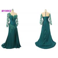 Quality Formal Mother Of The Bride Gowns , Emerald Green Mother Of The Bride Dresses wholesale