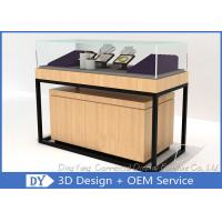 Quality Luxury Retail Shop Wood Glass Jewelry Display Counter With Light wholesale