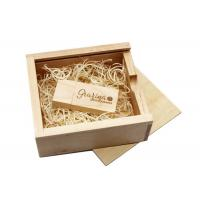 Cheap Custom Logo Sliding Lid Wooden Photo Boxes, Photography Packaging Boxes for sale