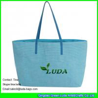 Quality LUDA  blue cheap handbags online paper straw beach bags and totes wholesale