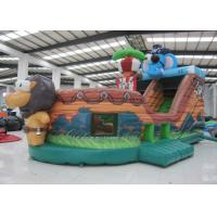 China Elephant Inflatable Pirate Ship Bouncer Animals Pirate Boat Silk Printing hot sale inflatable animals pirate boat on sale
