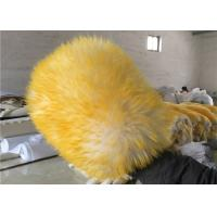 Quality Reusable Double sided Car Washing Mitt Glove Yellow Color With 100% Pure Wool wholesale