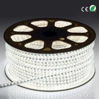 China 3528 60 Led High Voltage LED Strip Light , Indoor Bright White LED Rope Light on sale