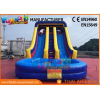 Quality SGS TUV Outdoor Inflatable Water Slide For Lake /  Pool Customized Logo wholesale