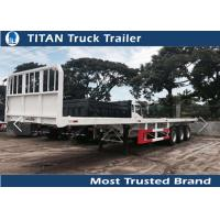 China 20 Foot 40 Foot 5th wheel flatbed container delivery trailer , shipping container trailers on sale
