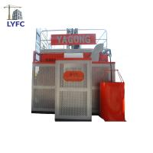 Quality passenger hoist cage SC200/200TD Double Cage Rack And Pinion Construction Lifting Passenger Hoist wholesale