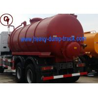 China Carbon Steel 6x4 LHD / RHD Sewage Suction Tanker Truck ISO / SGS Approved on sale