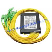 Quality Telecom Networks Fiber PLC Splitter with SC / APC Connector ABS Module wholesale