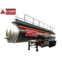 Quality Oil Transport 5000 Gallon Fuel Tank Trailer , 3 Axles Fuel Transfer Tank Trailer 13T Axle Bearing wholesale