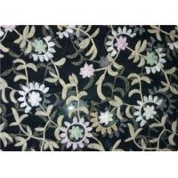 Quality 100% Polyester Embroidered Fabrics Contemporary Upholstery Fabric wholesale