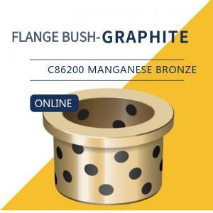 China UNS C86200 430A Manganese Bronze Bushing Plugged Graphite Cast Flange Bearings on sale