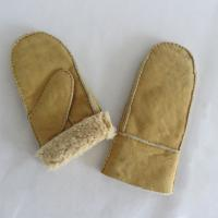 China Cheap classical shearling snow mitten gloves on sale