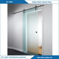 Quality 2050x900x8mm stainless steel glass sliding doors system wholesale