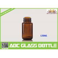 Quality Free Sample 120ML Custom Small Tablet Amber Glass  Bottle wholesale