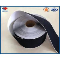 China Black Soft Thin Double Sided Self Adhesive Hook And Loop Tape Roll With Glue on sale