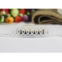Quality Milk Fiber Embroidery Water Soluble Thin Lace Ribbon For Cloth Chemical Circle Design wholesale