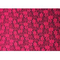 China Rose Exquisite Daisy Nylon Lace Fabric Multi functional Spandex Lace Fabric for Dress on sale