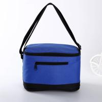 Quality Sublimation Printed Insulated Beer Cooler Bags , Blue 6 Pack Insulated Cooler Bag wholesale