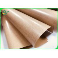 China Brown Kraft Paper Coated With PE 80gsm + 15gpe Single Side Coated on sale