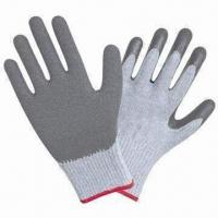 Quality Latex-coated Industrial Gloves with Crinkle Finish wholesale