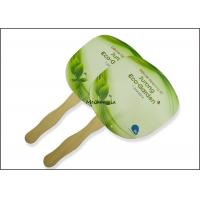China Customized paper board wooden Hand Fans Round Square Green Traditional Style on sale