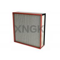 Buy cheap Galvanized Steel Frame High Temperature Hepa Filters from wholesalers