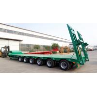 China TITAN 3/4/6 axles 40/60/80 tons heavy transport semirremolque low bed trailer on sale