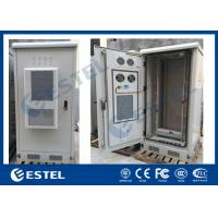 Quality Single Wall 40U Outdoor Telecom Cabinet Galvanized Steel Front And Rear Access wholesale